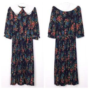 Vintage Breli Originals floral cottagecore dress